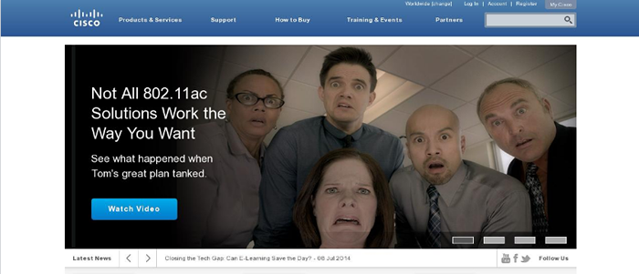 The use of humor in homepage photos can be powerful.